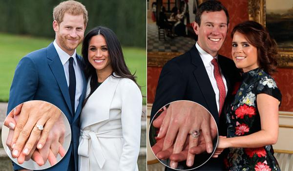 1c0a16353ac5 VIDEO  ¿El anillo de compromiso más caro es de Meghan Markle o Eugenia de  York